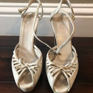 Off White Gucci Heels Size 37C